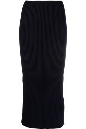 MM6 Maison Margiela High-waisted knitted maxi skirt