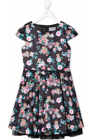 Moschino Floral-print flared dress