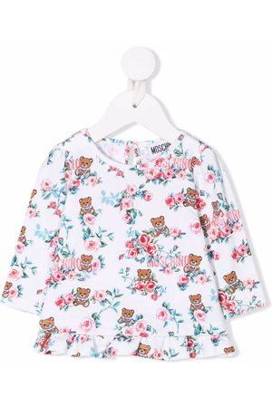 Moschino Floral logo-print blouse