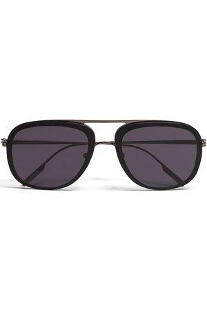 Ermenegildo Zegna Square pilot-frame sunglasses - Grey