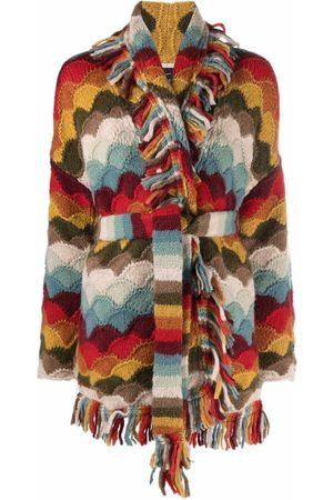 Alanui Striped tie-fastening cardigan