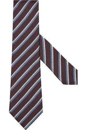 Ermenegildo Zegna Diagonal-stripe silk tie