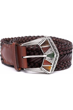 Etro Embossed buckle belt