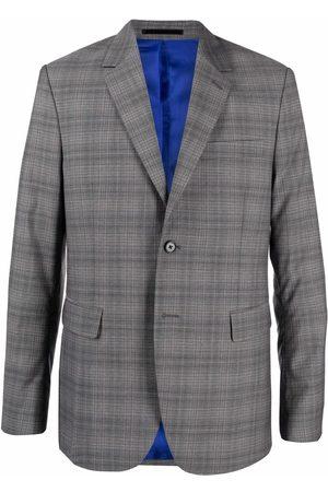 PAUL SMITH Plaid-check print blazer - Grey