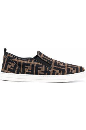 Fendi FF-logo slip-on sneakers