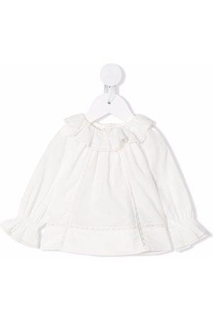 Bonpoint Girls Blouses - Myrtille lace-trim blouse