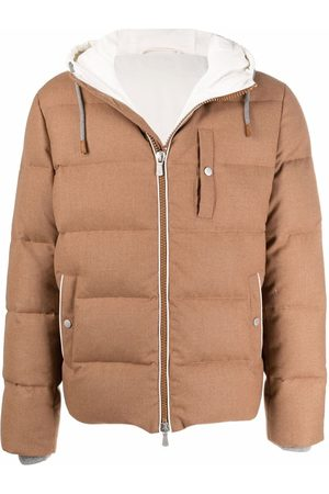 Eleventy Bimaterico wool padded jacket - Neutrals