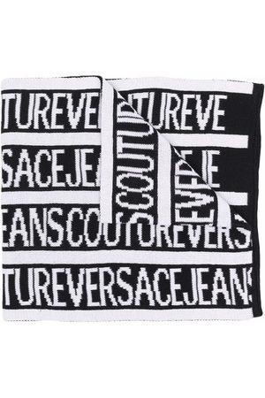 VERSACE Logo-intarsia scarf