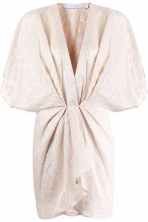 IRO Ruched mini dress - Neutrals