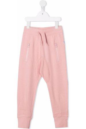 Molo Girls Sports Pants - Drawstring organic cotton tracksuit bottoms