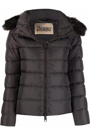 HERNO Padded zip-up down jacket - Grey