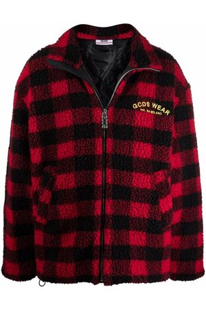 GCDS Men Fleece Jackets - Looney Tunes checked fleece jacket