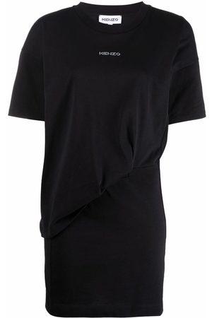 Kenzo Women Printed Dresses - Logo-printed T-shirt dress