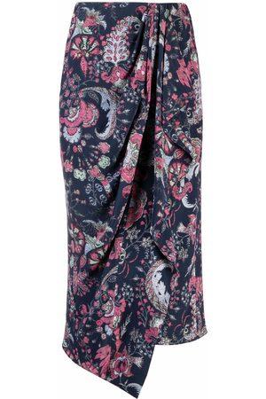 Isabel Marant Women Printed Skirts - Paisley-print draped skirt