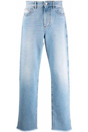 GCDS Light-wash wide-leg jeans