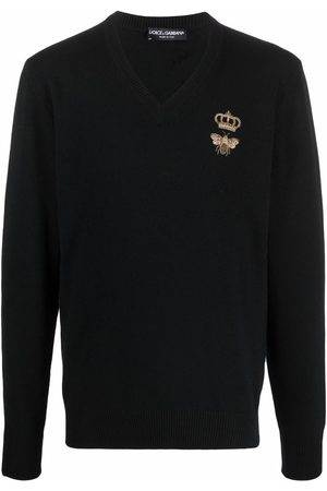 Dolce & Gabbana Embroidered-crown jumper