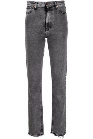 3x1 Women High Waisted - High-rise straight-leg jeans - Grey