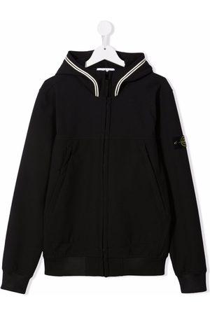 Stone Island TEEN zip-up hooded bomber jacket