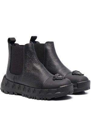 VERSACE Medusa-head leather boots