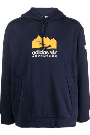 adidas Adventure logo-print hoodie