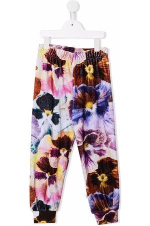 Molo Kids Floral-print organic cotton-blend leggings