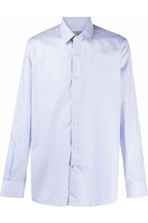 Canali Fine-check cotton shirt