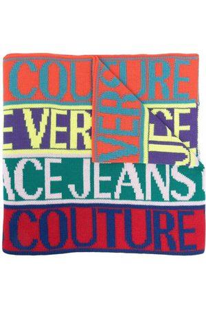 VERSACE Logo colour-block scarf