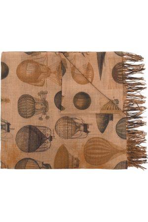UMA WANG Graphic-print wool scarf - Neutrals