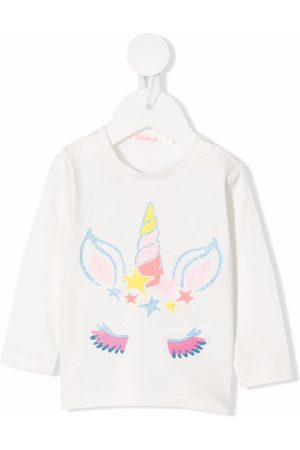 Billieblush Unicorn-print cotton T-shirt