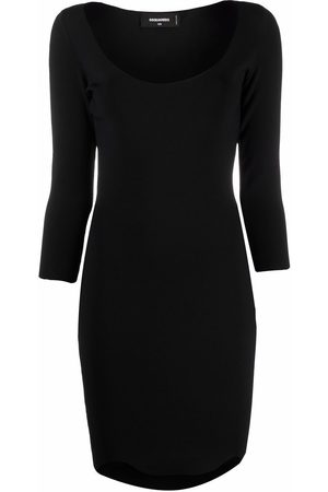 Dsquared2 Three quarter-sleeved fitted dress