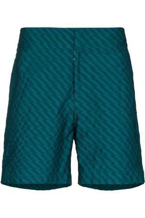 Frescobol Carioca Cotton-jacquard swim shorts