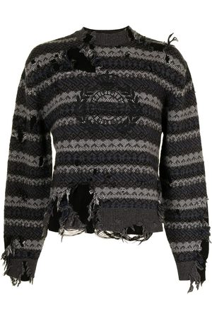 Balenciaga Sweatshirts - Destroyed crew neck jumper - Grey