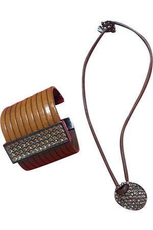 Swarovski Camel Leather Jewellery Sets