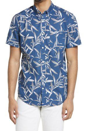 Treasure & Bond Men's Slub Linen Blend Short Sleeve Button-Down Shirt