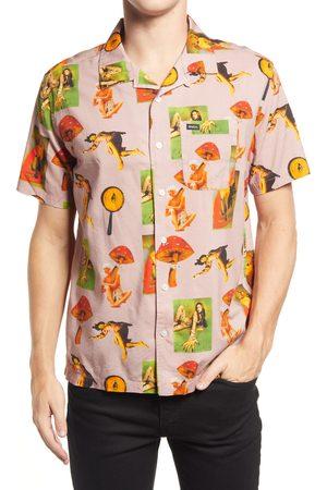 RVCA Men's Trippy Dana Short Sleeve Button-Up Camp Shirt