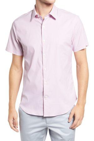 BONOBOS Men's Zigzag Short Sleeve Button-Up Performance Shirt