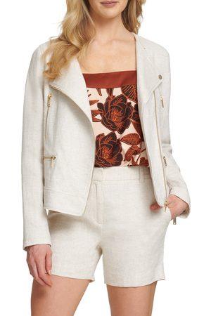DKNY SPORTSWEAR Women's Dkny Sport Linen & Cotton Moto Jacket