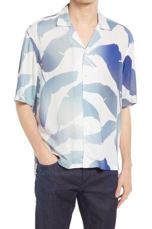 BOSS Men's Lell O Regular Fit Short Sleeve Button-Up Camp Shirt