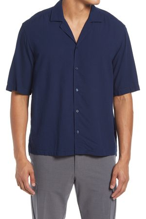 HUGO BOSS Men's Lello Regular Fit Short Sleeve Button-Up Camp Shirt
