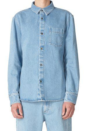 A.P.C. Men's Victor Denim Button-Up Shirt