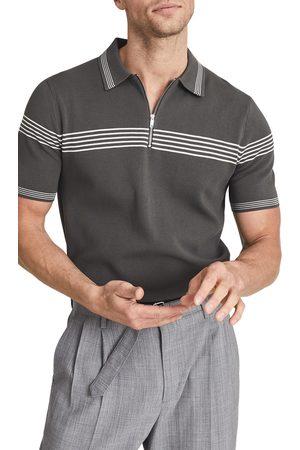 Reiss Men's Claude Stripe Short Sleeve Polo