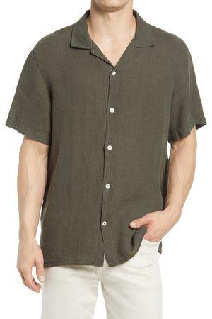 NN07 Men's Miyagi 5706 Short Sleeve Button-Up Linen Camp Shirt