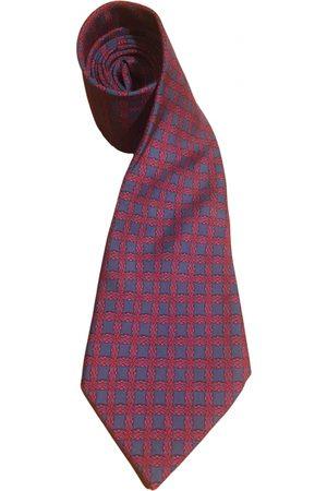 Hermès Burgundy Silk Ties