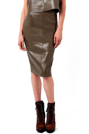 AS by DF Women's Port Elizabeth Recycled Leather & Knit Pencil Skirt