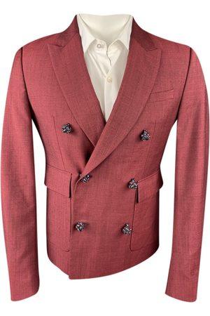KRIS VAN ASSCHE Men Suits - Burgundy Viscose Suits
