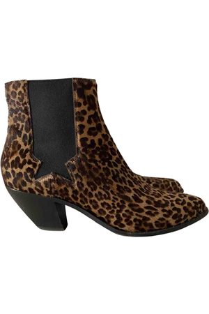 Golden Goose Multicolour Pony-style calfskin Ankle Boots
