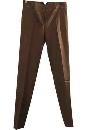 Cavalli Class Silk straight pants