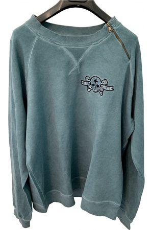 Zu Elements Turquoise Cotton Knitwear & Sweatshirt