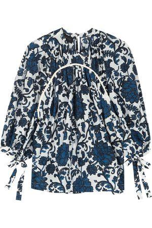 EUDON CHOI Ila printed cotton and silk-blend top