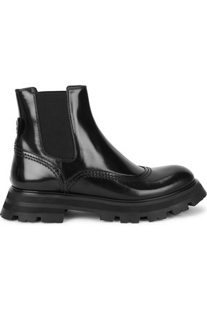 Alexander McQueen Wander glossed leather Chelsea boots